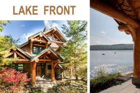LAKESIDE Adirondack Style GREAT CAMP - Dramatic GREAT RM FLR w/ OPEN CHEF'S  KITCHEN