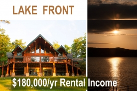 Luxury Log Home on OTSEGO LAKE - Established Rental:  approx. $180,000/yr