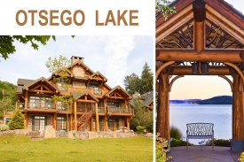 SENECA LODGE on OTSEGO LAKE - Dramatic GREAT ROOM FLOOR w/ Spectacular OPEN KITCHEN