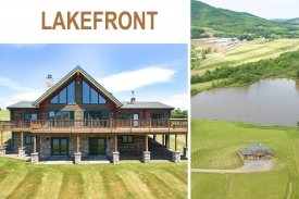 Spectacular LAKEFRONT Alta Log Home - Spectacular Alta Log Home -- Amazing Views