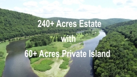 Frisbee Island on the Delaware River - 240+ Acre Estate and 60 Acre Private ISLAND