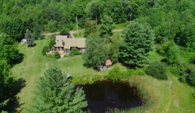 Catskills Private Contemporary with Pond - Contemporary in Private Setting