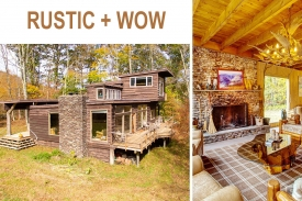 RUSTIC + WOW  --- HIDDEN CATSKILL HIDEAWAY - HIDDEN ADIRONDACK-DESIGNED RETREAT