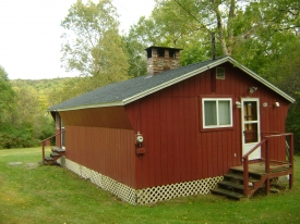 CABIN W/103 ACRES OF LAND + STREAM - CABIN