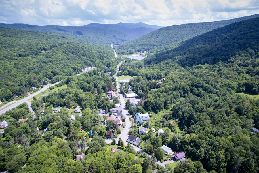 Catsklls Mtn Pine Hill NY Aerial View